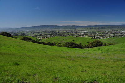 Green hills and Morgan Hill