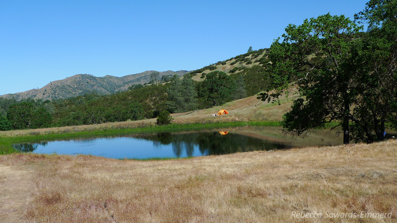 Sunday morning, dam end of Jackrabbit Lake. This is where all the people were. Including the 25 member boyscout troop.