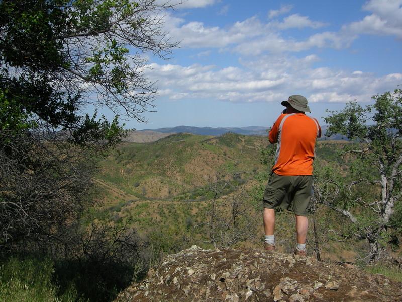 Antony photographs the views