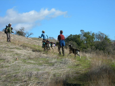 Heading out on Sunday we met some goat packers  The black goat was skittish and so cute