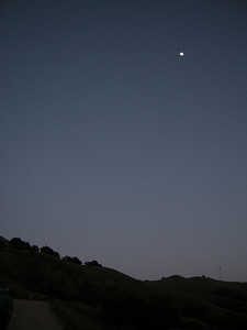 From now on, the moon (and our headlamps) light the way