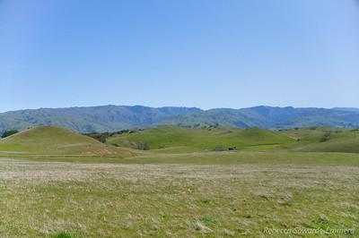 Peeking over towards Ohlone Wilderness