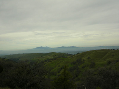 Mt Diablo and Rocky Ridge  Rocky Ridge looks smaller now. Piece of cake. We're heading up the other side of Williams Gulch up the 'Big Burn'