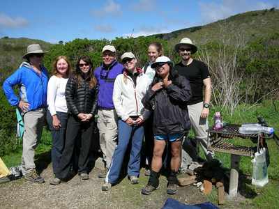 'The originals'  All of us were on the first NorthernCA Hikers trip exactly four years ago!