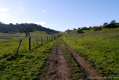 The hike starts off harmless enough down a two track through flat grassland.