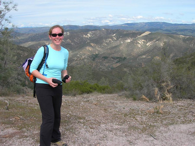 Bex at the top with the Chalone Creek fault in the background
