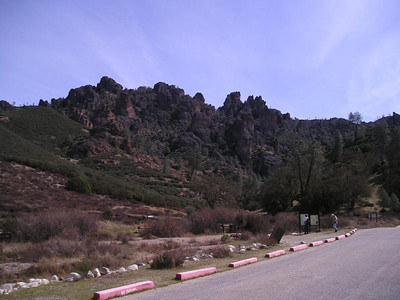West Parking lot view of the Pinnacles