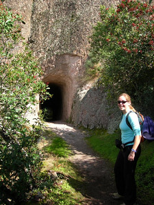 Bex on the appropriately named 'tunnel trail'