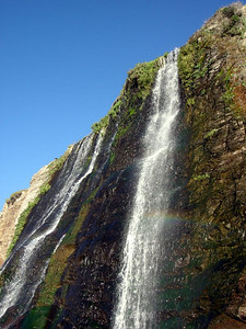 Rainbow in the falls
