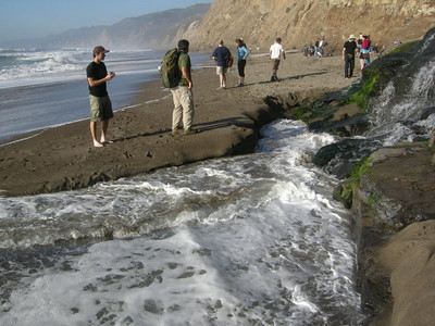 Mixing with the ocean  Lots of hikers out today!