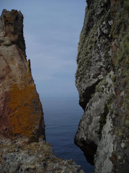 Ocean through the Rocks