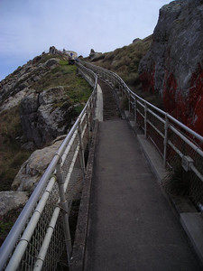 ighthouse Steps (looking back up)  It is a 300 stair trek down to the Lighthouse.