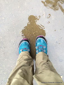 A shot of the Ahnu boots I tried out for the first time today. So far so great! Waterproof, comfy, and great traction in the mud.