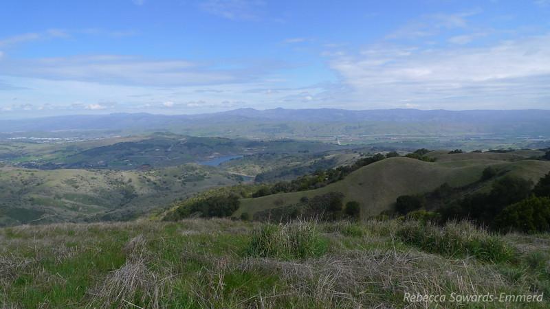 Calero Reservoir and Mt Hamilton.