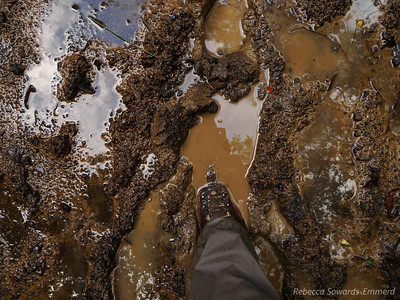 This went on for about a mile...the boots were great though. Waterproofness held and my feet stayed warm and dry.