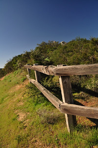 Fence along the Priest rock trail
