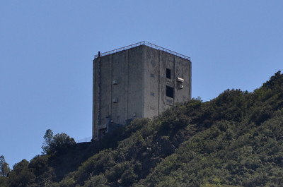 "Old radar station on Mt Umunhum. ""The Cube"""