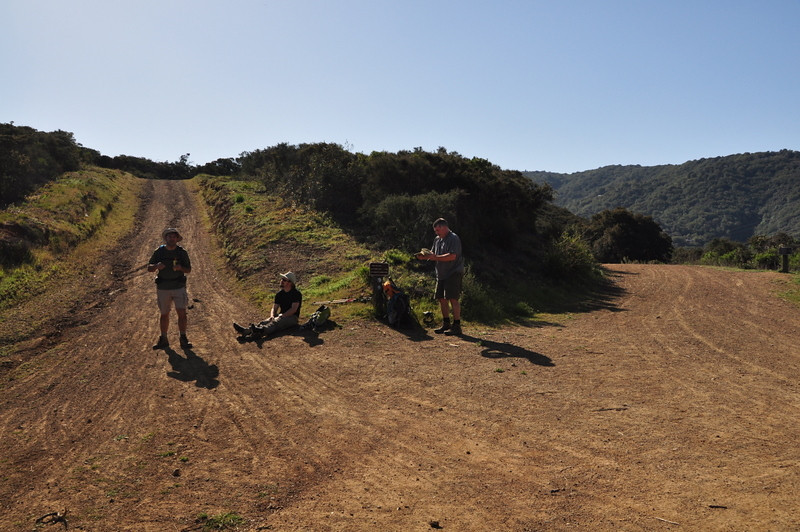 At the Limekiln/Priest Rock junction<br /> <br /> Powering up on food and water before heading up Priest Rock