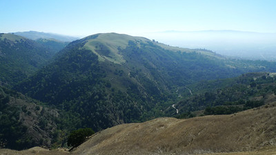 Alum Rock County Park is in the canyon below.
