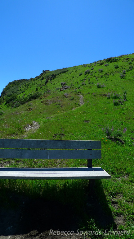 High point bench and the use trail.