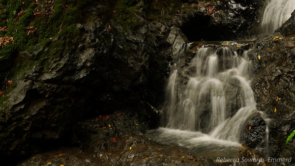 Another weird framing of the lower part of Basin Falls.