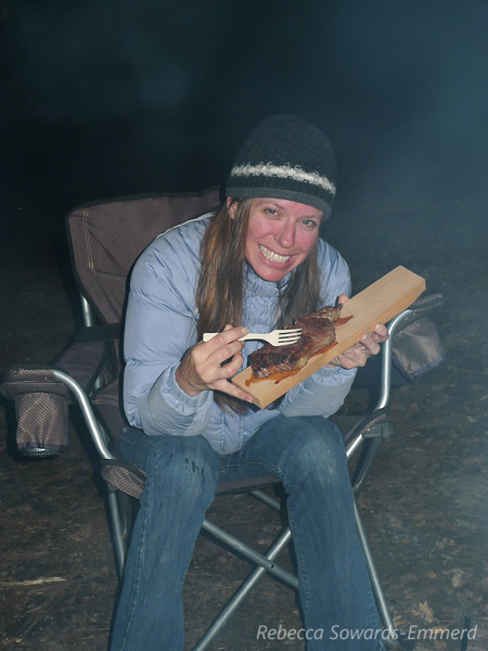 Paige and her rustic steak