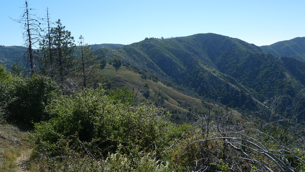 We have to cross the top of this ridge; the trailhead is on the other side.