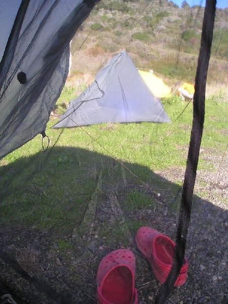 View out my tarptent in camp