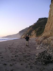 Steve gathering firewood on Wildcat Beach