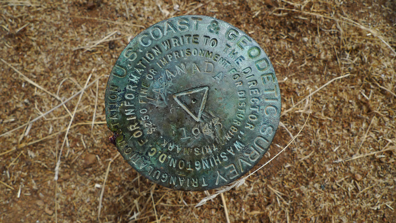 Benchmark on Wilson Peak. Apparently the peak is also named LaCanada
