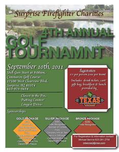 Golf Tournament Flyer 2011