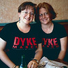 Laura Thomas and Rebecca Hensler, Dyke March, 1999_06_26