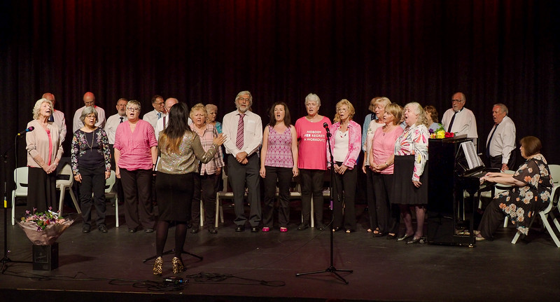 Singing For Lung Health Bracknell group singing Can't Help Falling In Love