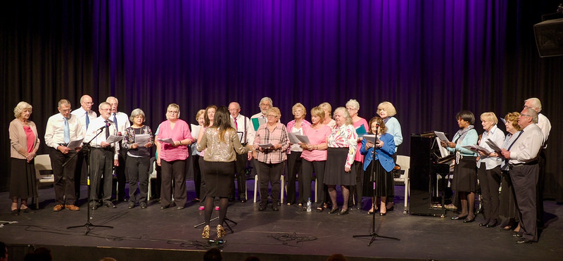 Combined Singing for Lung Health groups from Maidenhead and Bracknell singing Shoshone Love Song
