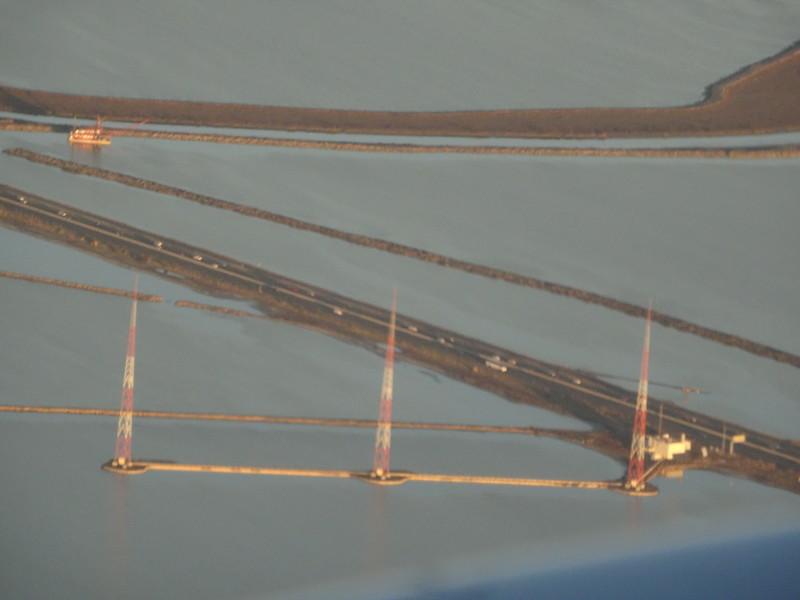 KGO AM 810 transmitter on Dumbarton Bridge