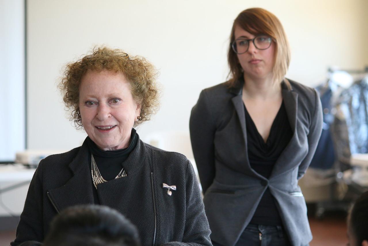 Left, Eve R. Meyer, Director, San Francisco Suicide Prevention. Right, Courtney Brown, Hotline manager, San Francisco Suicide Prevention.