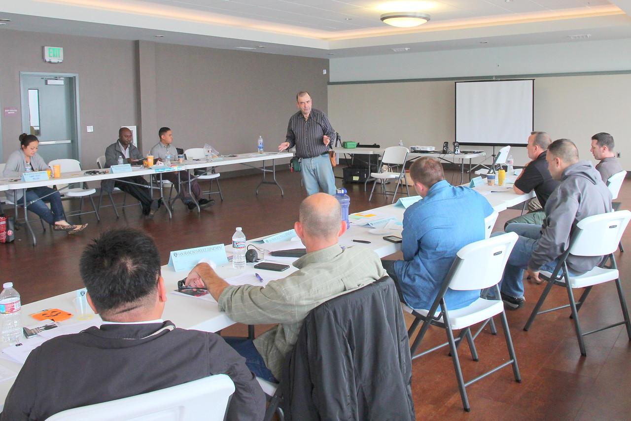 David Elliott Lewis, Ph.D. Secretary, Mental Health Board of San Francisco and NAMI San Francisco, Board of Directors presenting verbal de-escalation techniques.