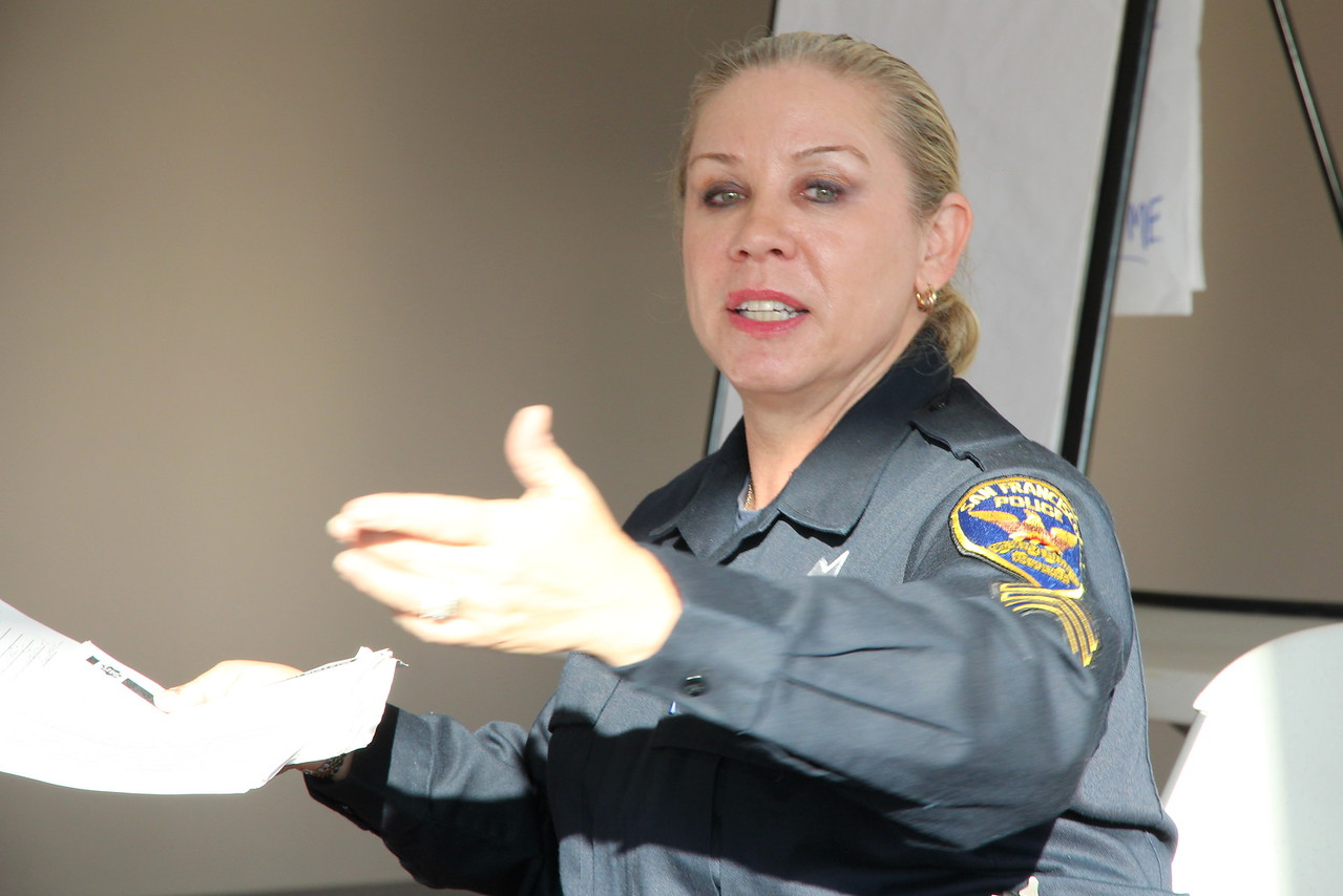 Inspector Kelly Kruger, SFPD Hostage Negotiation Team (HNT), a former member of the Mental Health Board and an important liaison between the SFPD and the mental health community.
