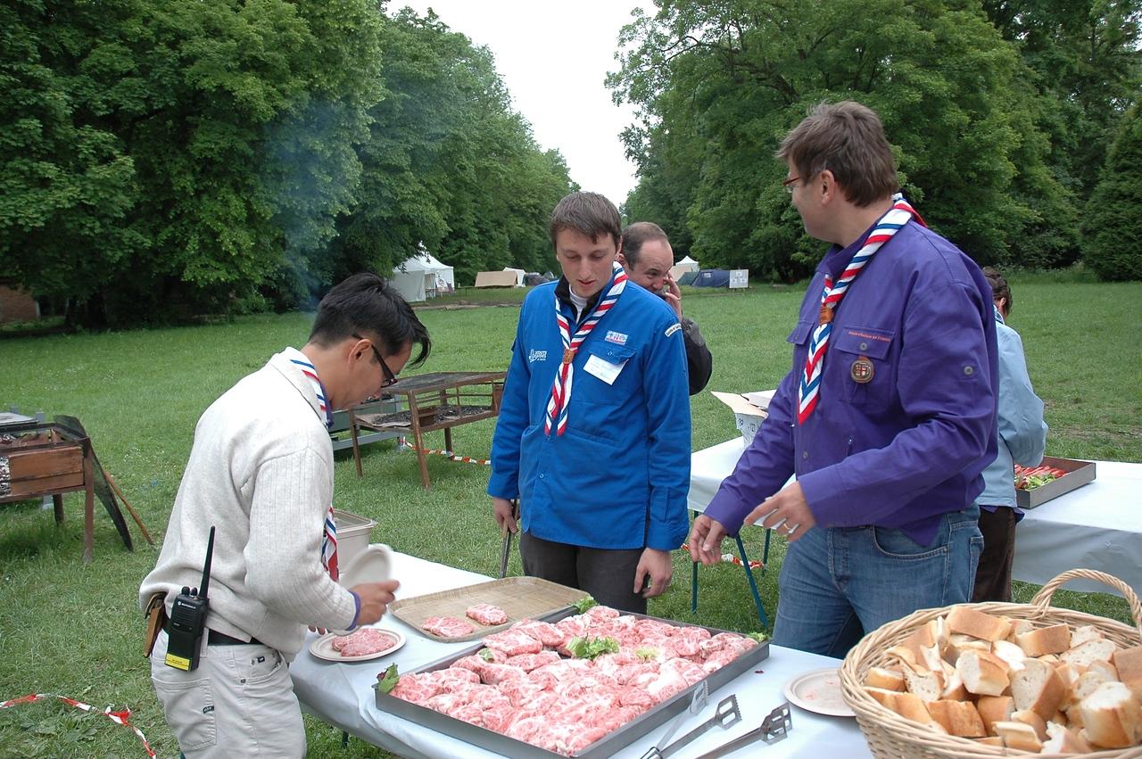 Equipes Nationales au service repas