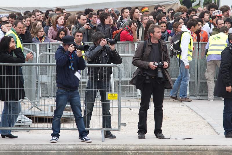 LaToileScoute avec les autres photographes au concert