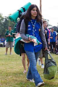 Les arrivées au Jamboree