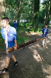 Je suis en camp scout