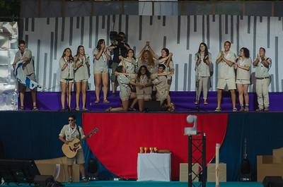 Les scouts israéliens forment une étoile de David