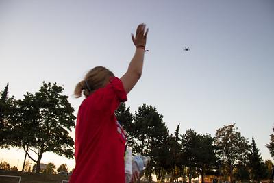 Un drone filme les 15 000 pios