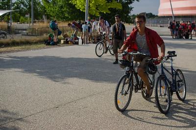 Un pio ramène deux vélos en même temps