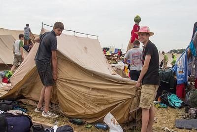 Séchage des tentes