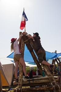 Mise en place du drapeau