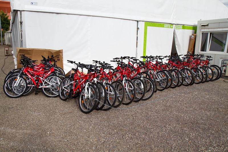 Vélos des équipes de service