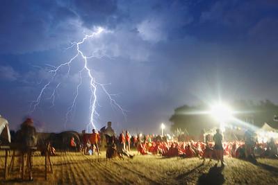 17 juillet : les éclairs au loin pendant la veillée