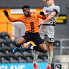 Picture: Richard Burley/Epic Action Imagery <br /> <br /> Barnet v Burton Albion - FA Cup Round 1 - 08/11/2020<br /> <br /> Pictured: Sam Hughes (Burton Albion) beats Wesley Fonguck (Barnet) to a high ball during the FA Cup Round 1  match between Barnet and Burton Albion at the Hive Stadium on Sunday 8th November 2020.